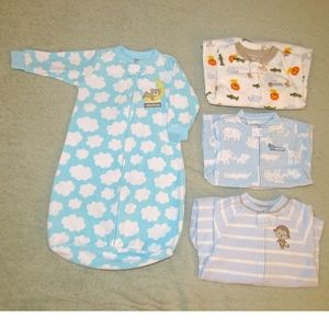 Carter's Baby Boys Sleep Sack 4 Piece Lot Sz 0-9M
